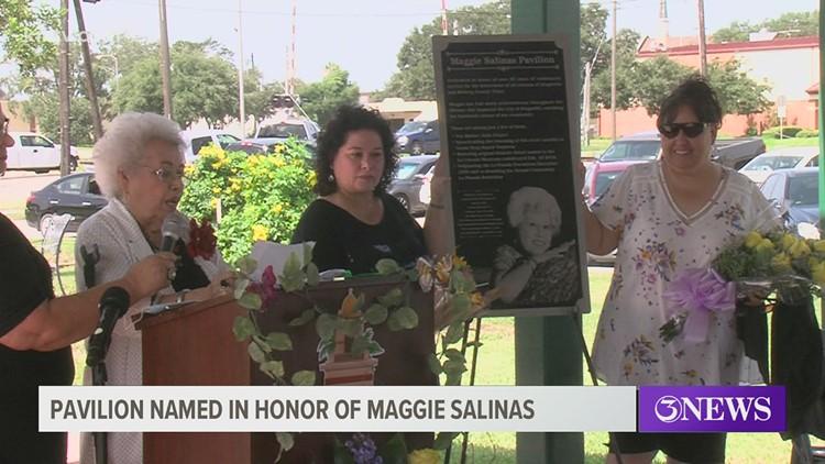 Pavilion in Kingsville named in honor of local resident