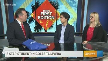 3Star Student: Nicholas Talavera