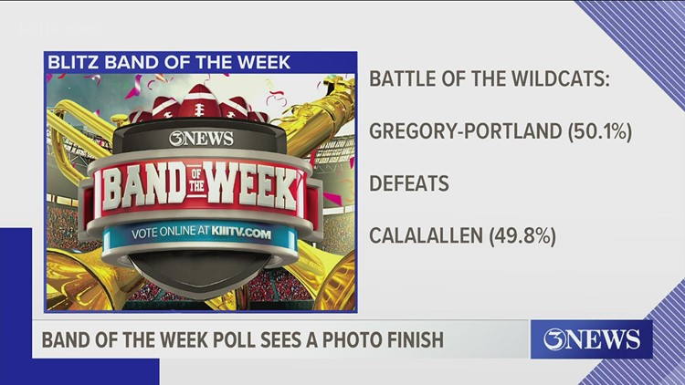 Blitz Band of the Week: Gregory-Portland Wildcats win over Calallen Wildcats by tiny margin