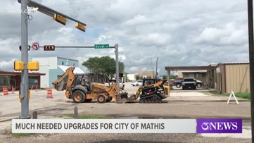 City of Mathis begins work to improve downtown area