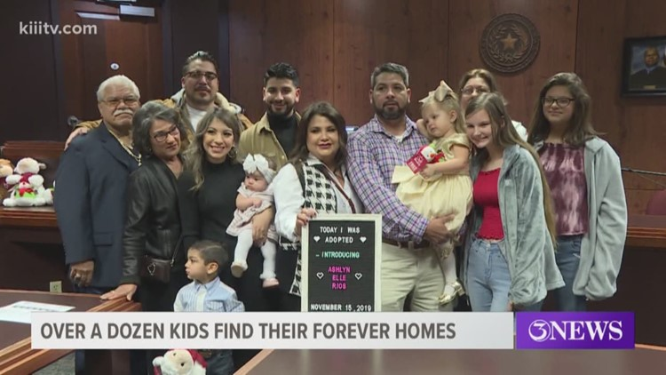 13 children adopted Friday at Nueces County Courthouse