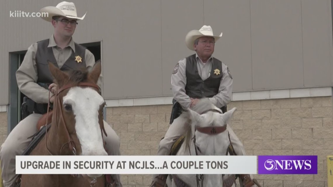 Two horses upgrade security over at the Nueces County Junior Livestock Show