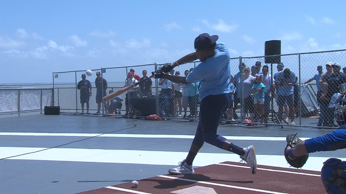 Hooks 2nd Annual Batting Practice atop the USS Lexington