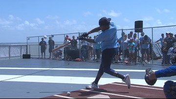 Hooks 2nd Annual Batting Practice atop the USS Lexington
