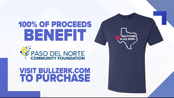 'Don't Hate in My State' T-shirt proceeds to go to El Paso victims relief fund