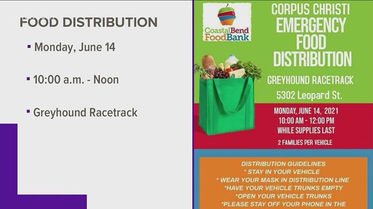 Coastal Bend Food Bank set to host food distribution Monday