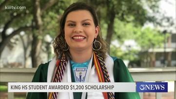 $1,200 awarded to Angelina Tapia through the Je'sani Smith Water Scholarship