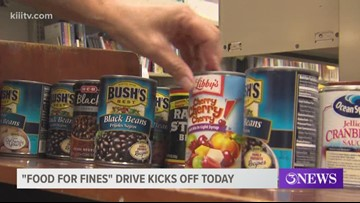 Corpus Christi Public Libraries kicks off Food for Fines drive