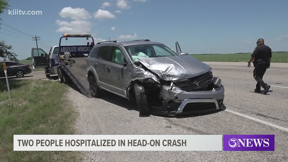 Head on collision sends two people to the hospital in Calallen