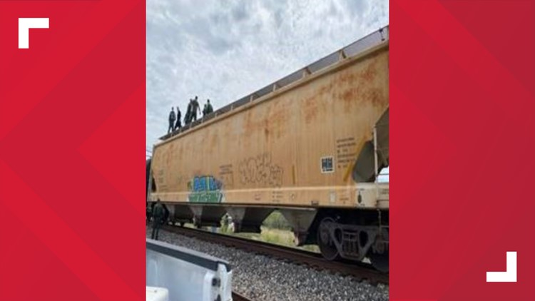 U.S. Border Patrol Agents make another rescue from a dangerous human smuggling attempt on a train