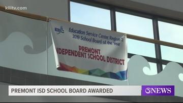 Premont ISD school board recognized by Region 2 Education Service Center