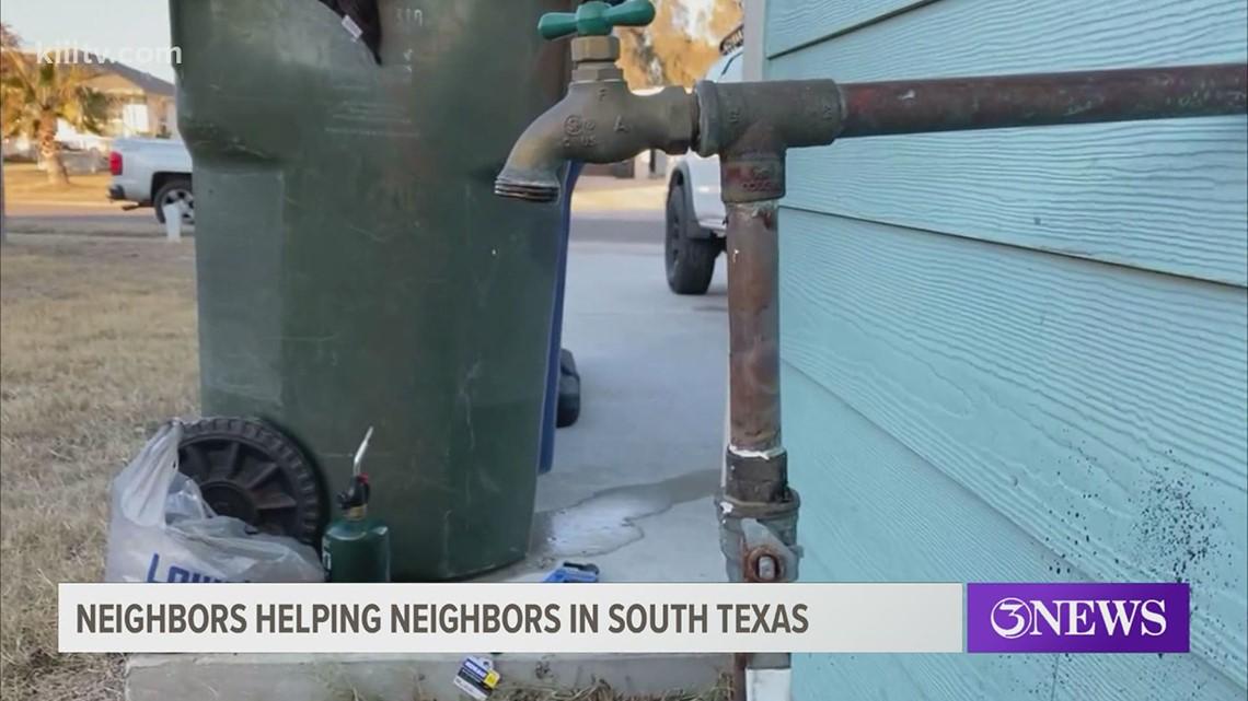 Neighbors helping neighbors: Coastal Bend resident helps fix water pipes