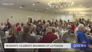 Residents on Padre Island celebrate the beginning of La Posada