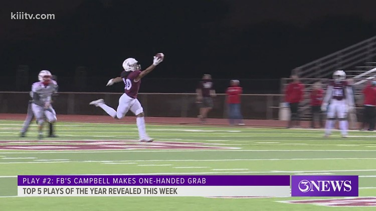 Top Blitz Play #2: Flour Bluff's Campbell one-handed TD