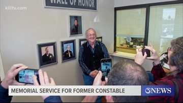 Memorial service held for constable who served for 20 years