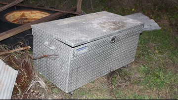 Who owns this toolbox? Investigators in Aransas Pass believe answer could be key in case of woman found dead in box