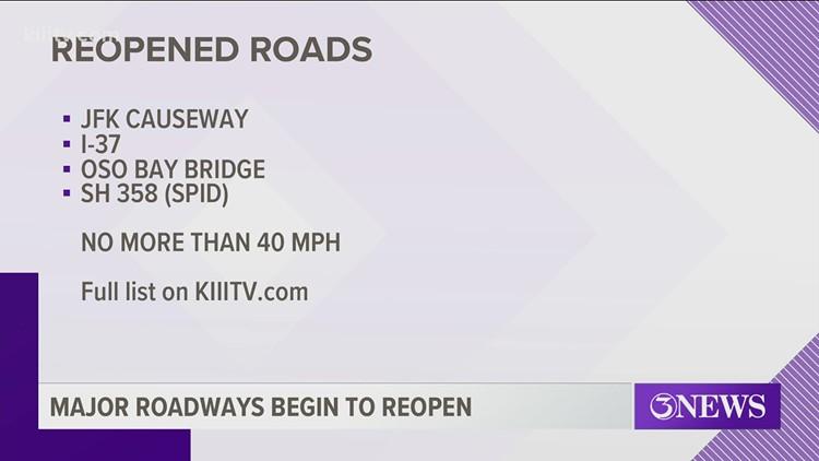 TxDOT reopens Harbor Bridge, other major roadways in Corpus Christi