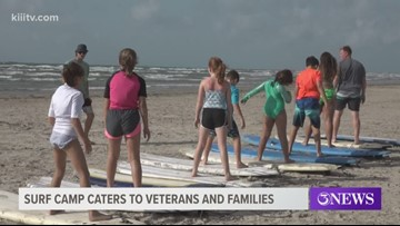Surf camp held for children in military families