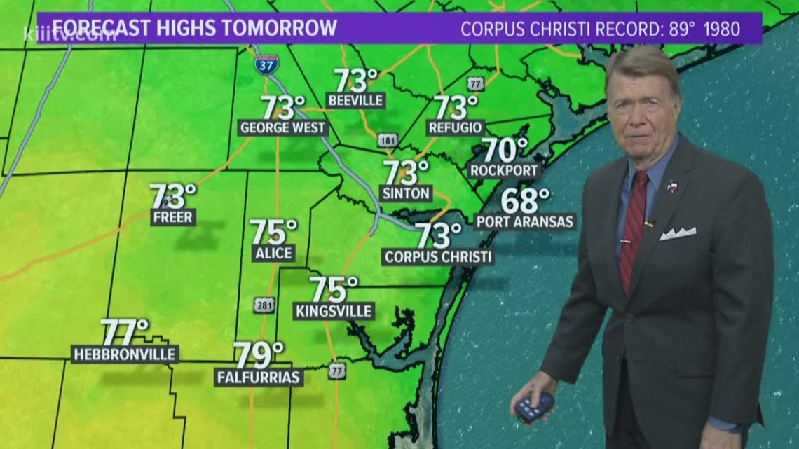 Mild w/Patchy Light Rain Friday