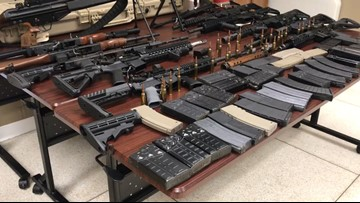 Deputy finds 14 high caliber weapons during traffic stop near Orange Grove, Texas