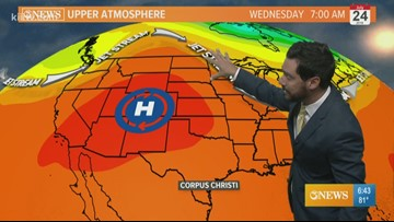 Hot, humid, and breezy weather for Wednesday