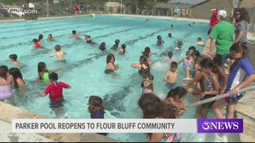 Grand re-opening ceremony held for Parker Pool in Flour Bluff
