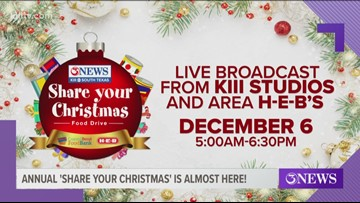 The annual Share Your Christmas Food Drive is almost here!