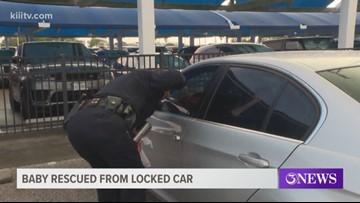 Authorities respond to child locked in car at Corpus Christi International Airport