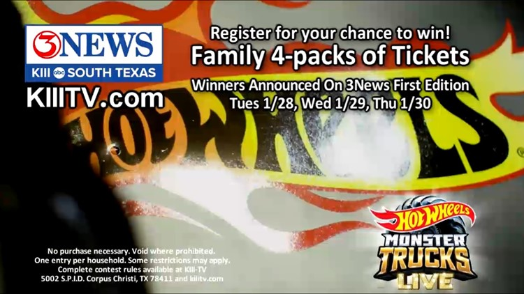 'Hot Wheels Monster Trucks Live' ticket giveaway contest