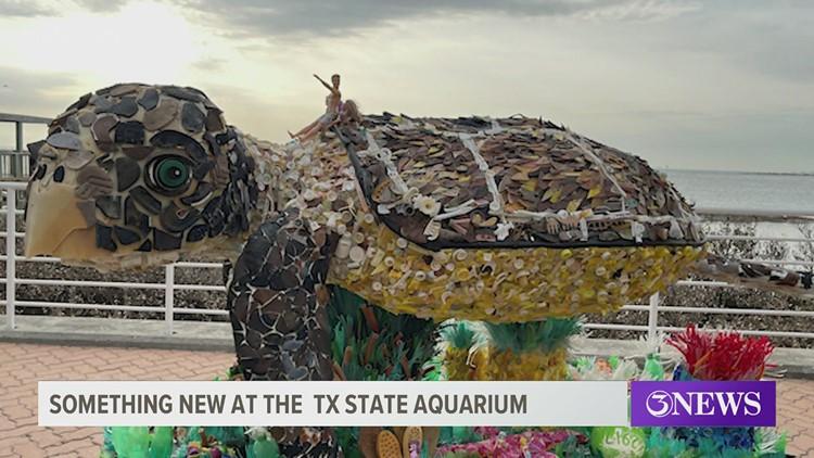 Art sculptures made of plastic trash part of new exhibit at Texas State Aquarium
