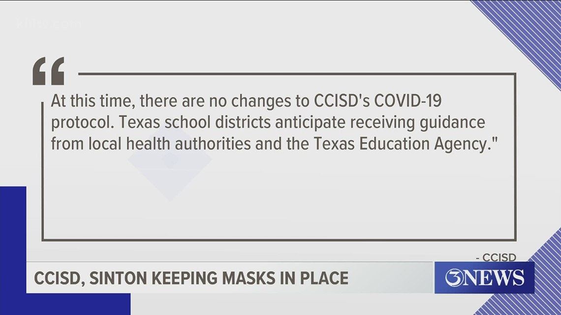 Coastal Bend school districts awaiting TEA, UIL guidance after Gov. Abbott lifts statewide mask mandate