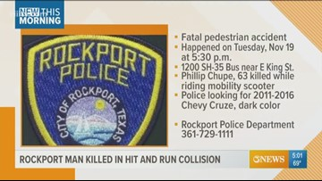 Man killed in a hit and run collision in Rockport