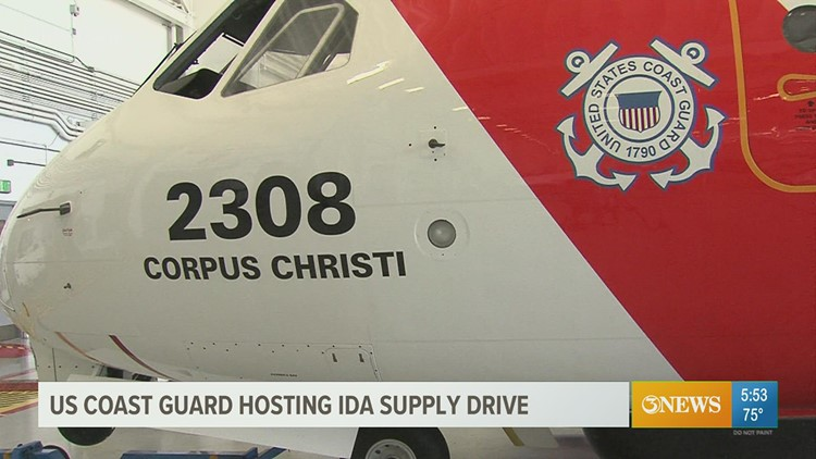 Corpus Christi air station collects donations to help Ida victims in Louisiana