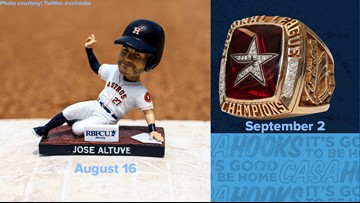 Craig Biggio replica ring, Jose Altuve bobblehead offered free at upcoming Hooks games