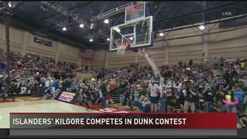 Islanders' Kilgore Wins College Dunk Contest