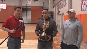 Alice's Salas presented Blitz Play of the Year trophy