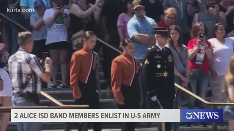 Two Alice ISD band members enlist in U-S Army