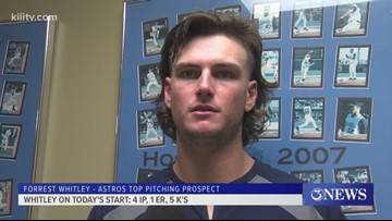 Astros top pitching prospect Forrest Whitley solid in return to Corpus Christi - 3Sports