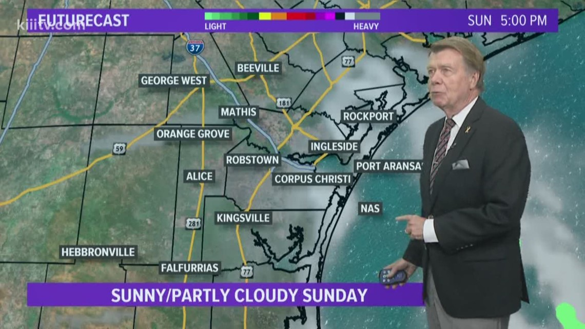 Partly to mostly cloudy into Sunday