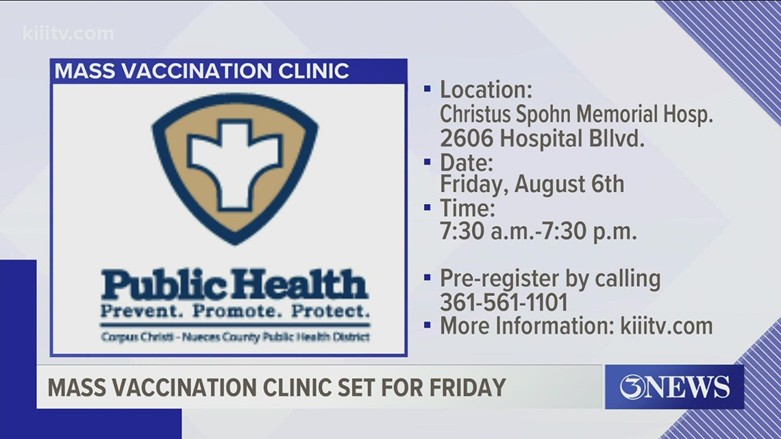 Health district to host mass vaccination clinic on August 6