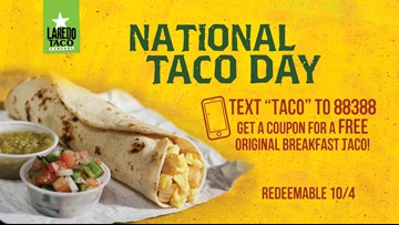 FREE tacos on National Taco Day!