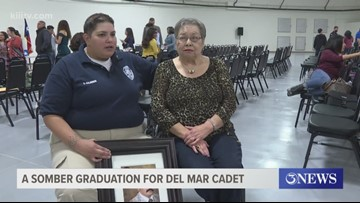 Cadet with Del Mar College Regional Police Academy remembers late father