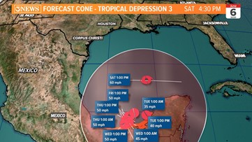 WEATHER BLOG: Mother Nature on cue with tropical development in Gulf of Mexico this week, still a high level of uncertainty