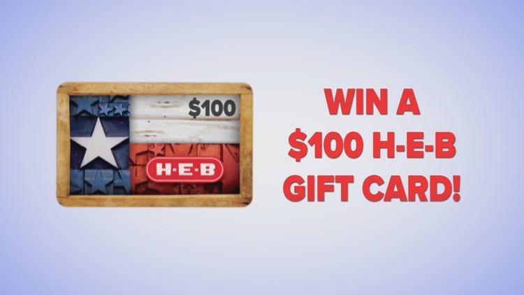 HEB $100 Giftcard Giveaway