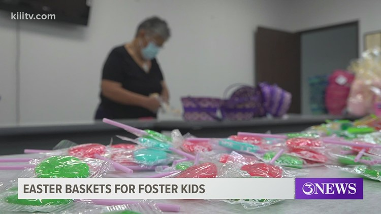 Easter baskets for children in the foster care system in the Coastal Bend