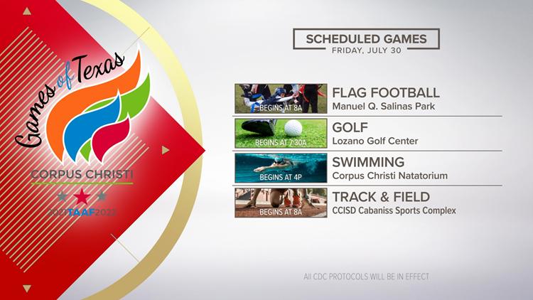 TAAF Games underway across Corpus Christi