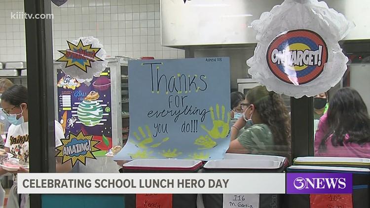 Cafeteria staff in CCISD receive appreciation on 'School Lunch Hero Day'