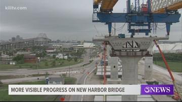More visible progress on the new Harbor Bridge in Corpus Christi