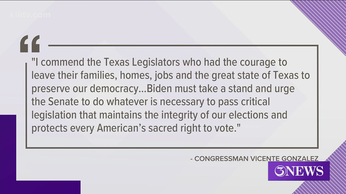 Texas lawmakers release statement in support of Democratic walk out