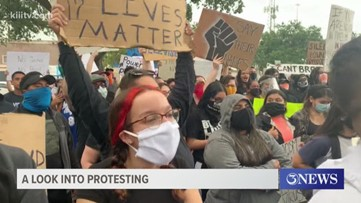 A look into Sunday night's protest in downtown Corpus Christi